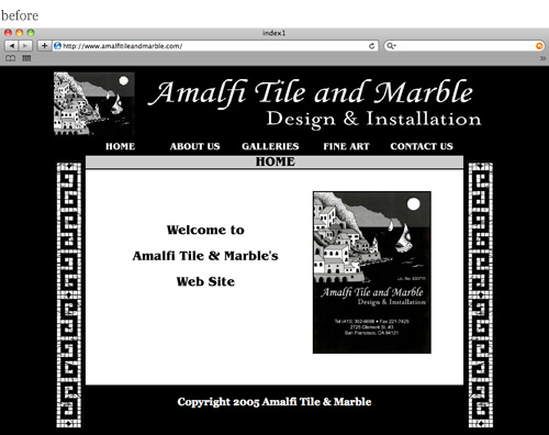 Website Re-Design, Before