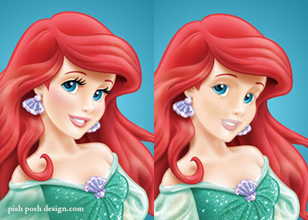 ariel without makeup