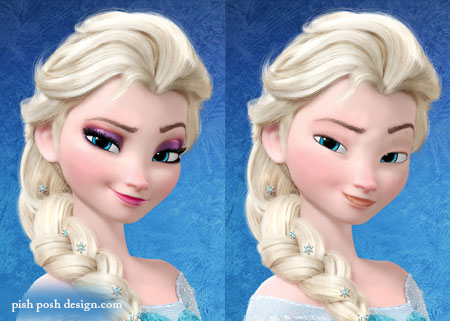 elsa without makeup