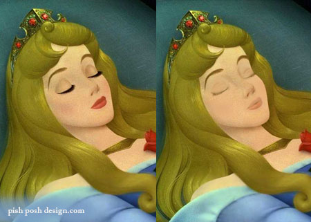sleeping beauty without makeup