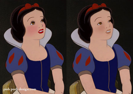 snow white without makeup